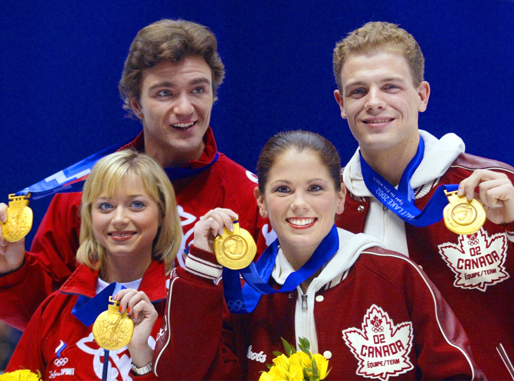 Jamie Sale, David Pelletier, gold medals, 2002 Winter Olympics